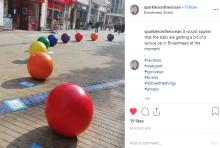 Broadmead BID concrete balls